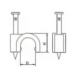 CLIP DE FIXATION ROND. BLANC - 4 mm (100 pcs/boite)