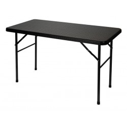 TABLE PLIANTE - IMITATION ROTIN - 120 X 60 X 74 cm
