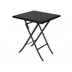 TABLE PLIANTE - IMITATION ROTIN - 62 x 62 x 73.5 cm