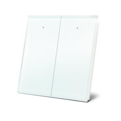 module de commande en finition verre avec touches tactiles doubles. blanc