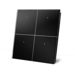module de commande en finition verre avec touches tactiles quadruples. noir