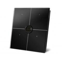 module de commande en finition verre avec touches tactiles quadruples et detecteur de mouvement et de crepuscule integre. noir