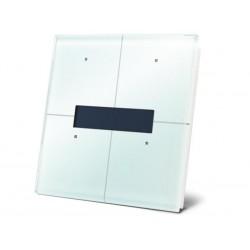 module de commande en finition verre a ecran OLED et avec controleur de temperature. blanc