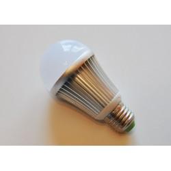 Ampoule LED Ronde E27 Pro Aluminium 6000K (Lumière jour) 7W (Rendu 60W) 600LM